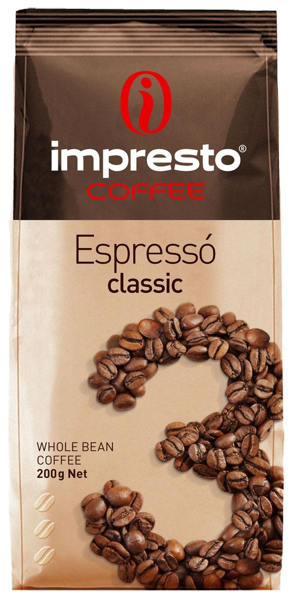 Impresto Espresso Classic кофе в зернах, 200 гCIMPCH-000007Традиционный итальянский эспрессо с мягким и бархатистым характером. Вы узнаете его по благородному вкусу, идеальной воздушной крема и необыкновенному аромату с нотами пряностей и шоколада. Страна: Бразилия, Уганда. Коллекция Impresto – это особая линейка с оригинальными рецептурами из 100% арабики и сбалансированных купажей с робустой, а также декофеинизированный кофе и фильтр-смеси. Мы с радостью предоставляем возможность каждому ценителю кофе приготовить дома превосходный утренний американо, послеобеденную чашечку эспрессо и вечерний кофе с молоком. Купажи Impresto – это зерно с лучших плантаций мира, мастерство европейского обжарщика, тщательное купажирование и высокотехнологичное производство с приверженностью к итальянским кофейным традициям. Impresto – это не только качественный кофе, но и бренд с насыщенной эмоциональной составляющей. Impressive, rest, espresso, restaurant, presto – все это несет в себе Impresto. Новый кофе Impresto – это идеальный...