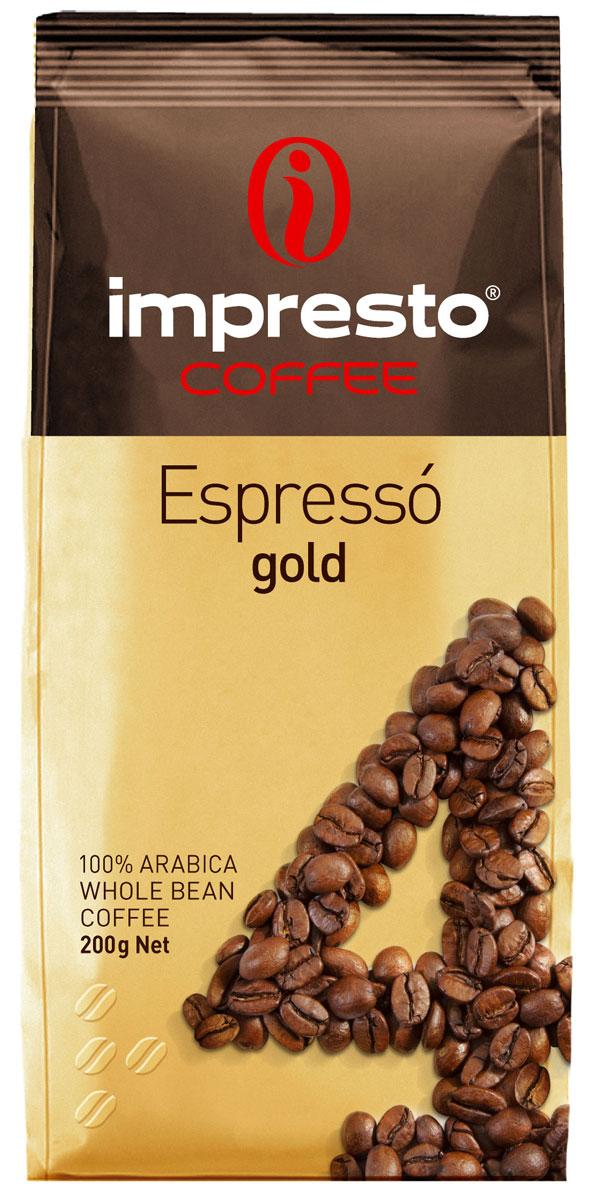 Impresto Espresso Gold кофе в зернах, 200 гCIMPCH-000008Отборный купаж для настоящих гурманов. Секрет этого кофе в безупречной гармонии моносортов с лучших плантаций мира. В ароматной чашечке эспрессо вы откроете для себя неповторимую глубину аромата и нежность долгого послевкусия. Страна: Кения, Бразилия. Коллекция Impresto – это особая линейка с оригинальными рецептурами из 100% арабики и сбалансированных купажей с робустой, а также декофеинизированный кофе и фильтр-смеси. Мы с радостью предоставляем возможность каждому ценителю кофе приготовить дома превосходный утренний американо, послеобеденную чашечку эспрессо и вечерний кофе с молоком. Купажи Impresto – это зерно с лучших плантаций мира, мастерство европейского обжарщика, тщательное купажирование и высокотехнологичное производство с приверженностью к итальянским кофейным традициям. Impresto – это не только качественный кофе, но и бренд с насыщенной эмоциональной составляющей. Impressive, rest, espresso, restaurant, presto – все это несет в себе Impresto....