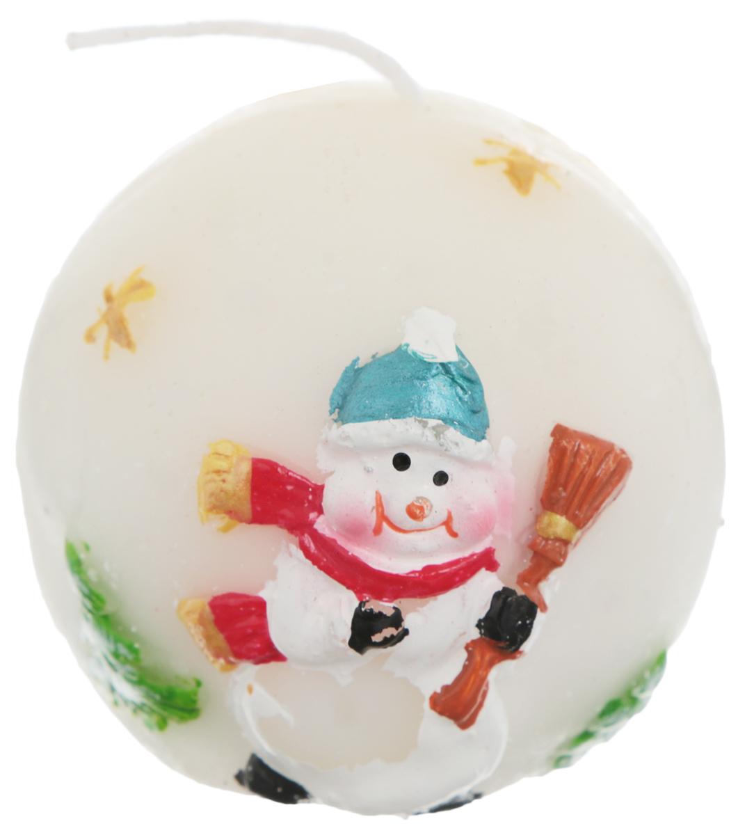 Свеча Winter Wings Шар. Снеговик, диаметр 5 смN162498Свеча Winter Wings Шар. Снеговик, изготовленная из парафина, станет прекрасным украшением интерьера помещения в преддверии Нового года. Такая свеча создаст атмосферу таинственности и загадочности и наполнит ваш дом волшебством и ощущением праздника. Хороший сувенир для друзей и близких.