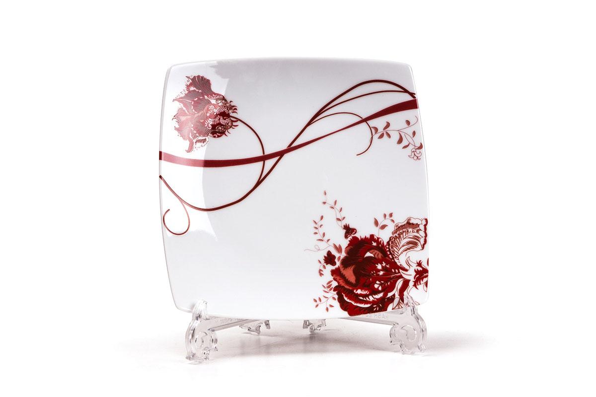 Набор тарелок Yves De La Rosiere Kyoto, 20 см х 20 см, 6 шт719101 0753Набор Yves De La Rosiere Kyoto состоит из шести тарелок, оформленных цветочным рисунком. Предметы набора изготовлены из высококачественного фарфора. Изящный дизайн придется по вкусу и ценителям классики, и тем, кто предпочитает утонченность и изысканность. Он настроит на праздничный лад и подарит хорошее настроение с самого утра. Набор столовой посуды - идеальный и необходимый подарок для вашего дома и для ваших друзей в праздники, юбилеи и торжества! Он также станет отличным корпоративным подарком и украшением любой кухни. Размер тарелки (по верхнему краю): 20 см х 20 см. Высота тарелки: 2 см.