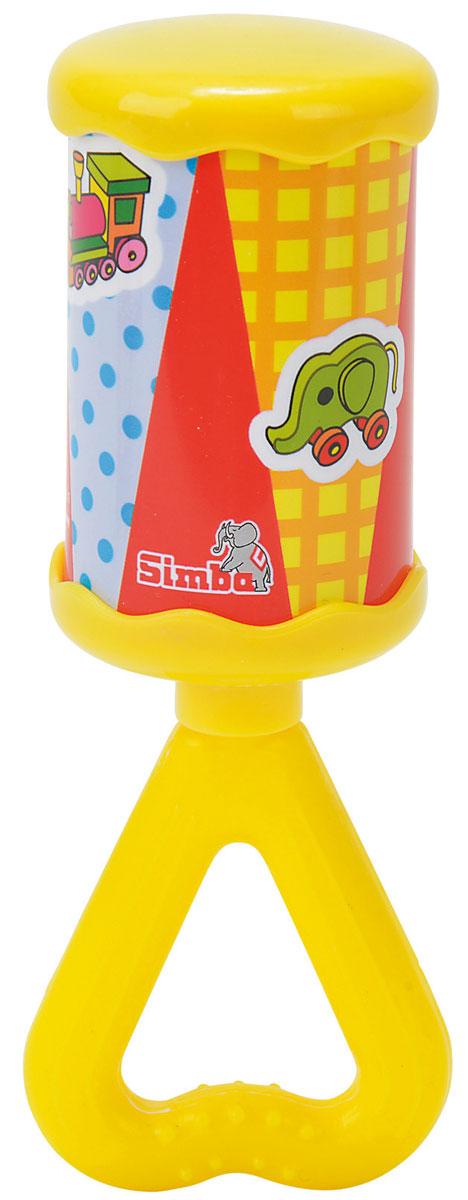 Simba Погремушка Луна цвет желтый4011305_желтыйЯркая и красочная погремушка Simba Луна обязательно привлечет внимание малыша и поможет ему начать познавать мир, развивая необходимые в будущем навыки и способности. Погремушка выполнена в виде цилиндра на длинной ручке треугольной формы, за которую малышу будет удобно держаться. Ручка погремушки дополнена рельефными точками, которые будут массировать десна, если малыш захочет погрызть игрушку. При встряхивании погремушка издает мелодичный звон. Забавная погремушка поможет малышу научиться фокусировать внимание, держать предметы, различать звуки, а также познакомит с формами и цветами. С первых месяцев жизни малыш начинает интересоваться яркими, подвижными предметами, ведь они являются его главными помощниками в изучении удивительного мира. Погремушка развивает мелкую моторику и слуховое восприятие.