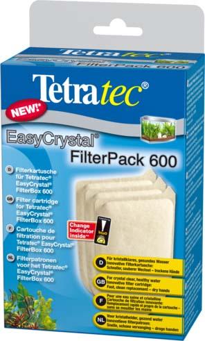 Фильтрующие картриджи без угля Tetra EC 600 для внутреннего фильтра EasyCrystal 600 3 шт.174658TetraTec EC Filter pack 600 Губки для внутренних аквариумных фильтров без угля. Выполняют только механическую и биологическую очистку воды. Продаются набором по 3 штуки. Отфильтрованная вода прозрачная и не содержит болезнетворных микроорганизмов. Инновационная конструкция губки и ее компактные размеры позволяют осуществлять ее замену без демонтажа фильтра.