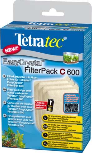 Фильтрующие картриджи с углем Tetra EC 600 С для внутреннего фильтра EasyCrystal 600 3 шт.174665TetraTec EC Filter pack 600 Набор фильтрующих картриджей (губок) с углем. Картриджы созданы для комплектации внутренних фильтров EasyCrystal®Filter 250, EasyCrystal® FilterBox 300. Продаются в наборе, состоящим из 3-х штук. Губки выполняют интенсивную механическую, биологическую и химическую чистку воды. Замена губки не требует нарушения положения фильтрационной установки, руки остаются совершенно сухими. Механическая фильтрация воды осуществляется путем пропускания струи воды через белую и зеленую стороны губки. Химическая фильтрация осуществляется посредством активированного угля, который устраняет загрязненность воды и неприятные запахи.