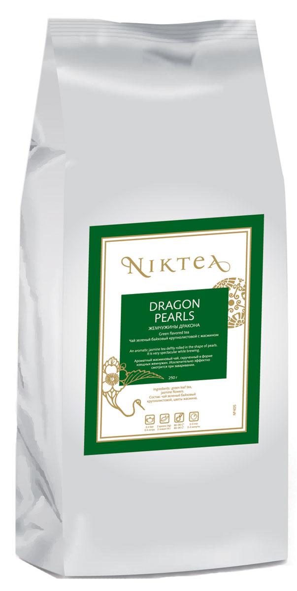 Niktea Dragon Pearls зеленый листовой чай, 250 гTALTHA-DP0014Niktea Dragon Pearls - ароматный жасминовый чай, скрученный в форме изящных жемчужин. Исключительно эффектно смотрится при заваривании. NikTea следует правилу качество чая - это отражение качества жизни и гарантирует: Тщательно подобранные рецептуры в коллекции топовых позиций-бестселлеров. Контролируемое производство и сертификацию по международным стандартам. Закупку сырья у надежных поставщиков в главных чаеводческих районах, а также в основных центрах тимэйкерской традиции - Германии и Голландии. Постоянство качества по строго утвержденным стандартам. NikTea - это два вида фасовки - линейки листового и пакетированного чая в удобной технологичной и информативной упаковке. Чай обладает многофункциональным вкусоароматическим профилем и подходит для любого типа кухни, при этом постоянно осуществляет оптимизацию базовой коллекции в соответствии с новыми тенденциями чайного рынка. Листовая коллекция NikTea представлена в...