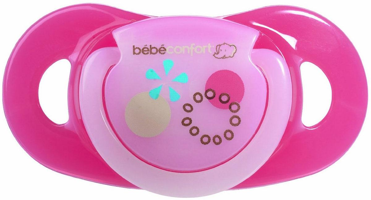 Bebe Confort Пустышка Safe от 0 до 12 месяцев размер Т1 цвет розовый 2 шт