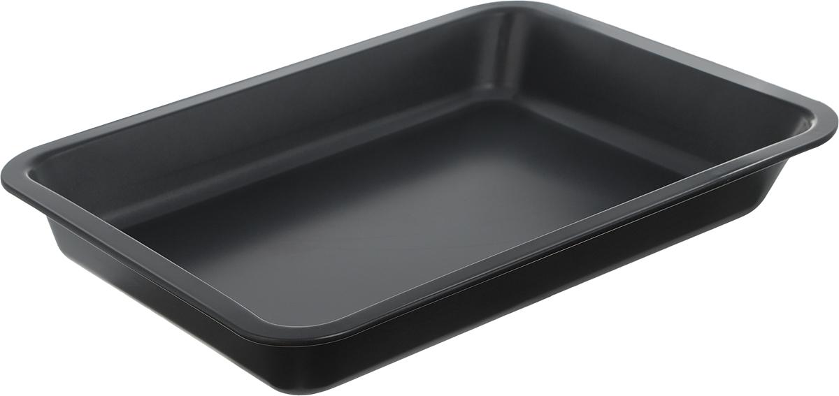 Противень Miolla, с антипригарным покрытием, прямоугольный, цвет: серый, 40 см х 32,5 см х 5 см1001059UПротивень Miolla изготовлен из высококачественной углеродистой стали с антипригарным покрытием. Изделие отличается высокой прочностью, износостойкостью. Антипригарный противень - лучший современный вариант для использования в духовом шкафу. Незаменимый атрибут для приготовления запеканок, всевозможных блюд из мяса и овощей, а также выпечки из теста и изысканных кондитерских блюд. Подходит для использования в духовом шкафу и посудомоечной машине. Не использовать в СВЧ и на открытом огне. Общий размер противня: 40 см х 32,5 см х 5 см. Внутренний размер (без учета бортов): 36,8 см х 29 см. Толщина стенки противня: 2 мм. Толщина дна: 3 мм.