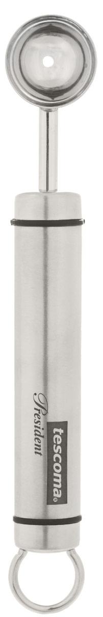 Порцеватель универсальный Tescoma President, длина 17 см638618Универсальный порцеватель Tescoma President превосходно подходит для вырезания шариков из фруктов, овощей, молотого мяса. Изделие выполнено из первоклассной нержавеющей стали. Прибор имеет металлическую петельку, за которую его легко подвешивать в удобном месте. Такой порцеватель займет достойное место среди аксессуаров на вашей кухне. Можно мыть в посудомоечной машине. Общая длина порцевателя: 17 см. Размер рабочей части: 2,5 см х 2,5 см х 1 см.