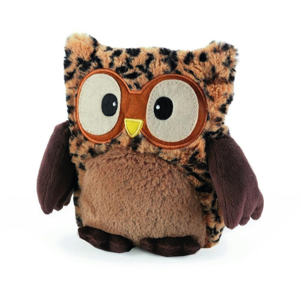 Warmies Совенок-грелка цвет коричневыйHOO-TAW-1Положите игрушку на 1-2 минуты в микроволновую печь, и она будет греть вас на протяжении 3-4 часов. Игрушки полностью безопасны - состоят из натурального наполнителя: зерен проса и сушеной лаванды. Просо удерживает тепло долгое время, а лаванда обладает успокаивающим, расслабляющим эффектом, помогает заснуть. Лечебные свойства лаванды помогают при простудных заболеваниях. Не стирать - специальный шелковый мех легко очищается влажной тряпкой.