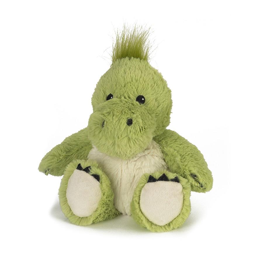Warmies Игрушка-грелка ДинозаврCP-DIN-1Положите игрушку на 1-2 минуты в микроволновую печь, и она будет греть вас на протяжении 3-4 часов. Игрушки полностью безопасны - состоят из натурального наполнителя: зерен проса и сушеной лаванды. Просо удерживает тепло долгое время, а лаванда обладает успокаивающим, расслабляющим эффектом, помогает заснуть. Лечебные свойства лаванды помогают при простудных заболеваниях. Не стирать - специальный шелковый мех легко очищается влажной тряпкой.