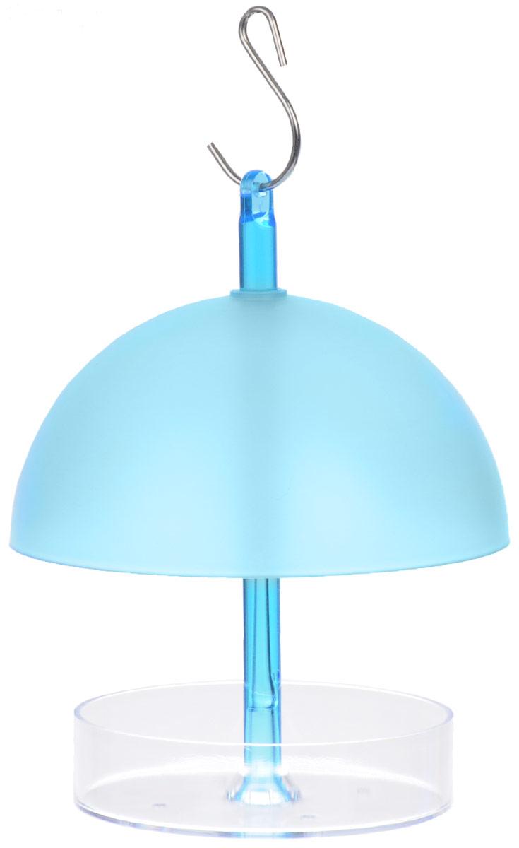 """Кормушка """"Gardman"""", цвет: голубой, прозрачный, высота 16 см"""