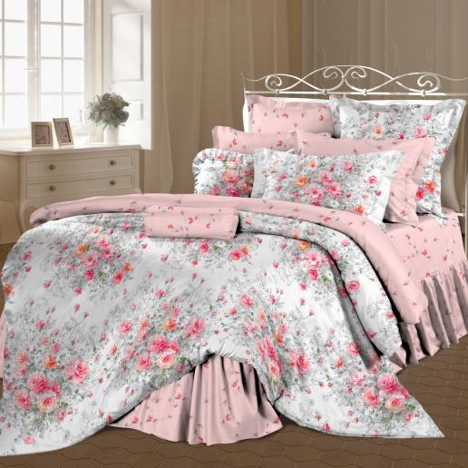 Комплект белья Романтика Французский букет, 2-спальный, наволочки 70х70, цвет: розовый, серый, белый. 298688298688Роскошный комплект постельного белья Романтика Французский букет выполнен из ткани Lux Перкаль, произведенной из натурального 100% хлопка. Ткань приятная на ощупь, при этом она прочная, хорошо сохраняет форму и легко гладится. Комплект состоит из пододеяльника, простыни и двух наволочек, оформленных цветочным принтом. Благодаря такому комплекту постельного белья вы создадите неповторимую и романтическую атмосферу в вашей спальне.