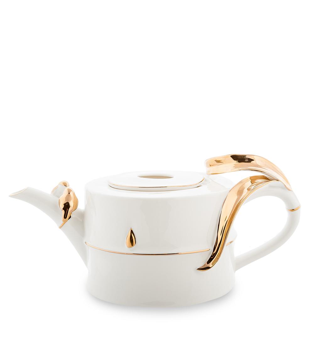 """Чайник заварочный Pavone """"Бамбук"""", цвет: белый, золотой, 1 л 106735"""