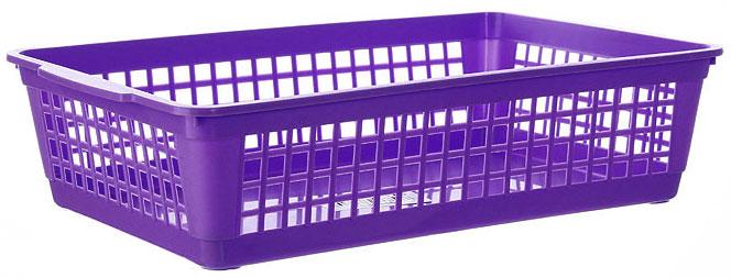 Корзина Gensini, цвет: фиолетовый, 25 х 16 х 6,5 см3305_фиолетовыйУниверсальная корзина Gensini, выполненная из высококачественного цветного пластика, предназначена для хранения мелочей в ванной, на кухне, даче или гараже. Позволяет хранить мелкие вещи, исключая возможность их потери. Боковые стенки украшены перфорацией в виде прямоугольников.