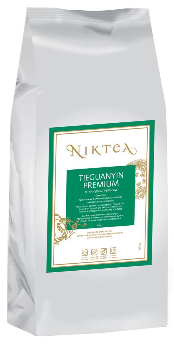Niktea Tieguanyin Premium зеленый листовой чай, 250 гTALTHA-DP0028Niktea Tieguanyin Premium - самый знаменитый китайский улун. Раскрывается в свежем, многогранном букете с нотами сирени и медовым послевкусием. NikTea следует правилу качество чая - это отражение качества жизни и гарантирует: Тщательно подобранные рецептуры в коллекции топовых позиций-бестселлеров. Контролируемое производство и сертификацию по международным стандартам. Закупку сырья у надежных поставщиков в главных чаеводческих районах, а также в основных центрах тимэйкерской традиции - Германии и Голландии. Постоянство качества по строго утвержденным стандартам. NikTea - это два вида фасовки - линейки листового и пакетированного чая в удобной технологичной и информативной упаковке. Чай обладает многофункциональным вкусоароматическим профилем и подходит для любого типа кухни, при этом постоянно осуществляет оптимизацию базовой коллекции в соответствии с новыми тенденциями чайного рынка. Листовая коллекция NikTea...