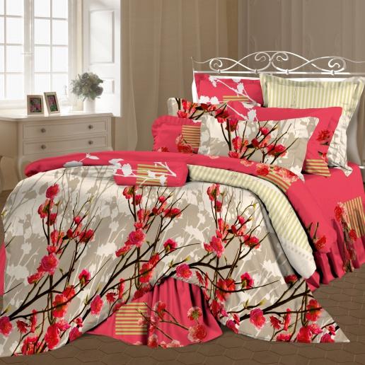 Комплект белья Romantic Венецианский парк, 2-спальный, наволочки 70х70, цвет: розовый, белый, серый. 208137208137Роскошный комплект постельного белья Romantic Венецианский парк выполнен из ткани Lux Cotton, произведенной из натурального длинноволокнистого мягкого 100% хлопка. Ткань приятная на ощупь, при этом она прочная, хорошо сохраняет форму и легко гладится. Комплект состоит из пододеяльника, простыни и двух наволочек, оформленных цветочным принтом. Постельное белье Romantic создано специально для утонченных и романтичных натур. Дизайн постельного белья подчеркнет ваш индивидуальный стиль и создаст неповторимую и романтическую атмосферу в вашей спальне.