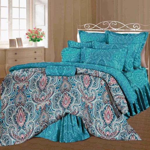 Комплект белья Romantic Селин, 1,5-спальный, наволочки 50х70, цвет: темно-бирюзовый, синий. 319093319093Роскошный комплект постельного белья Romantic Селин выполнен из ткани Lux Cotton, произведенной из натурального длинноволокнистого мягкого 100% хлопка. Ткань приятная на ощупь, при этом она прочная, хорошо сохраняет форму и легко гладится. Комплект состоит из пододеяльника, простыни и двух наволочек, оформленных оригинальным принтом. Постельное белье Romantic создано специально для утонченных и романтичных натур. Дизайн постельного белья подчеркнет ваш индивидуальный стиль и создаст неповторимую и романтическую атмосферу в вашей спальне.