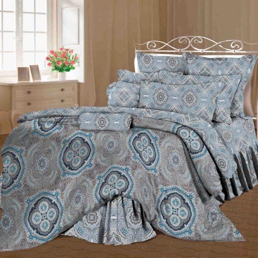 Комплект белья Romantic Валери, семейный, наволочки 70х70, цвет: синий, коричневый, серый. 319123319123Роскошный комплект постельного белья Romantic Валери выполнен из ткани Lux Cotton, произведенной из натурального длинноволокнистого мягкого 100% хлопка. Ткань приятная на ощупь, при этом она прочная, хорошо сохраняет форму и легко гладится. Комплект состоит из двух пододеяльников, простыни и двух наволочек, оформленных оригинальным принтом. Постельное белье Romantic создано специально для утонченных и романтичных натур. Дизайн постельного белья подчеркнет ваш индивидуальный стиль и создаст неповторимую и романтическую атмосферу в вашей спальне.
