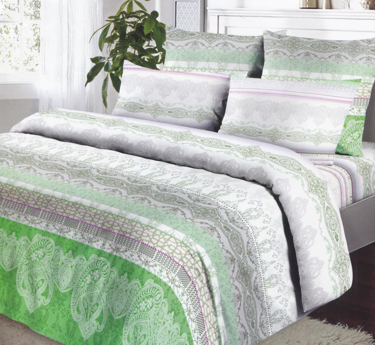 Комплект белья Коллекция Эстетика, 1,5-спальный, наволочки 70х70, цвет: зеленый, серый, белыйОБК-1,5/70 4391/2Комплект постельного белья Коллекция Эстетика является экологически безопасным для всей семьи, так как выполнен из бязи (100% натурального хлопка), что гарантирует крепкий и здоровый сон. Комплект состоит из пододеяльника, простыни и двух наволочек. Постельное белье, оформленное оригинальными цветочными узорами, послужит прекрасным дополнением к интерьеру вашей спальной комнаты. Гладкая структура делает ткань приятной на ощупь, мягкой и нежной, при этом она прочная и хорошо сохраняет форму. Ткань легко гладится. Благодаря такому комплекту постельного белья вы сможете создать атмосферу роскоши и романтики в вашей спальне. Бязь - хлопчатобумажная плотная ткань полотняного переплетения. Отличается прочностью и стойкостью к многочисленным стиркам. Бязь считается одной из наиболее подходящих тканей, для производства постельного белья и пользуется в России большим спросом.