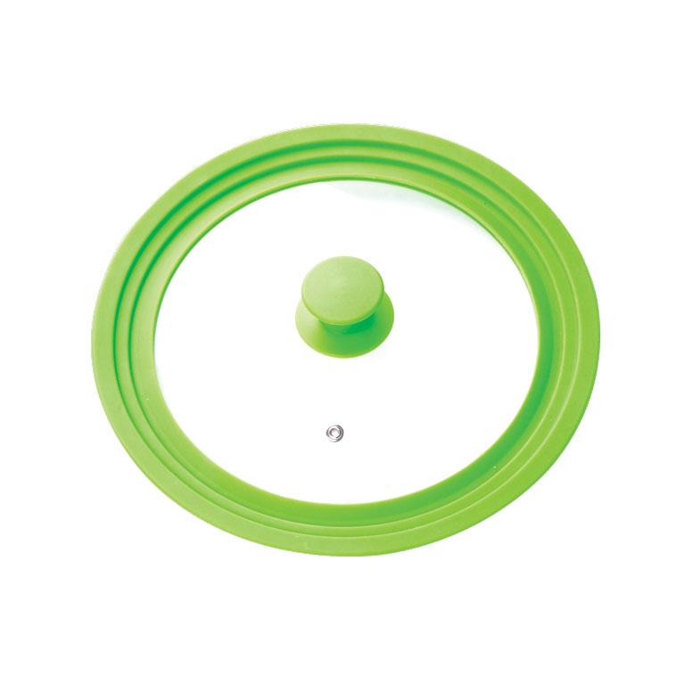 Крышка универсальная Miolla, цвет: зеленый, для сковород и кастрюль диаметром 16, 18, 20 см1015019UКрышка Miolla подходит в качестве универсальной крышки к сковородам и кастрюлям диаметром 16, 18, 20 см. Изготовлена из огнеупорного стекла с высококачественным силиконовым ободом. Имеет одно отверстие для выхода пара. Ручка не нагревается. Можно мыть в посудомоечной машине. Подходит для использования в духовке до 180°С. Невероятно красивые, стильные и функциональные товары бренда Miolla помогут создать дома атмосферу уюта. Современные, продуманные решения для уборки ваших квартир - всё, о чем мечтает каждая хозяйка!