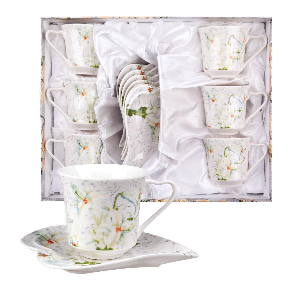 Набор для кофе ЛИЛИЯ, 12 предметов (чашка 100 мл 6 шт, блюдце 6 шт.)WT100ML12Невероятно красивые, стильные и функциональные товары бренда Miolla помогут создать дома атмосферу уюта. Современные, продуманные решения для уборки ваших квартир — всё, о чем мечтает каждая хозяйка!