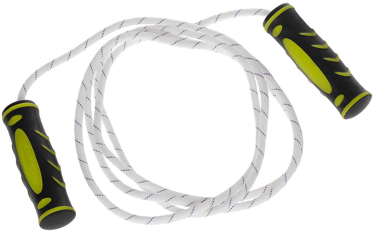 Скакалка Ironmaster, 300 смIR97129Скакалка Ironmaster рекомендуется для использования во время тренировок спортсменов. Скакалка позволяет задействовать большое количество рабочих мышц и улучшает работу сердечно-сосудистой системы. Трос скакалки выполнен из хлопка, ручки - из полипропилена с резиновыми вставками. Фигурные рукоятки плотно ложатся в руку и не выскальзывают во время тренировок. Длина скакалки с учетом ручек: 300 см. Длина скакалки без учета ручек: 275 см. Размер ручек: 12,5 см х 3,5 см х 3,5 см.