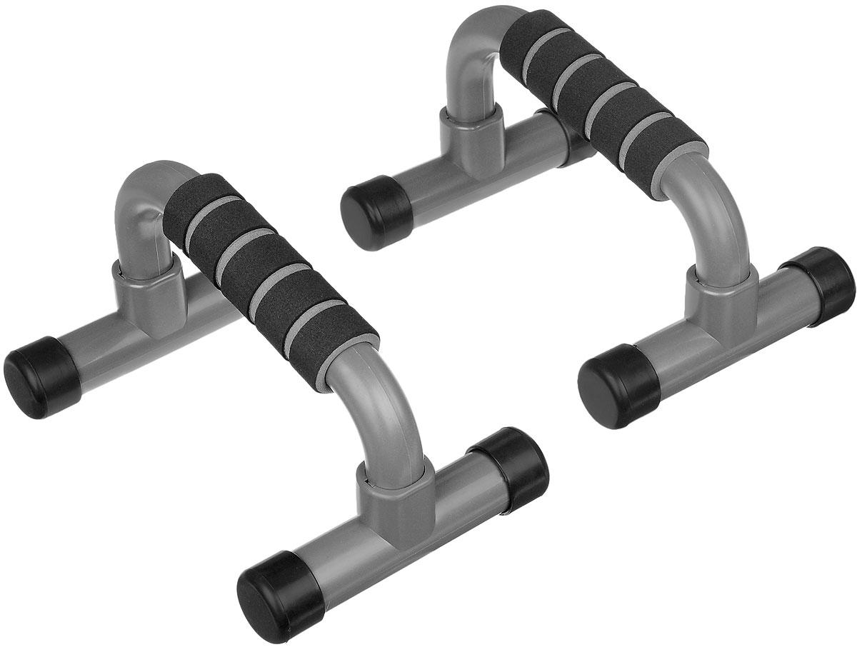 Упоры для отжиманий Ironman, 2 штIR97722Упоры для отжиманий Ironman выполнены из прочного пластика, мягкие ручки из синтетического каучука. Традиционную технику выполнения отжиманий можно существенно дополнить, используя упоры для отжиманий - эффективный инструмент, который позволяет развивать и укреплять мышцы рук, груди и плечевого пояса, развивает выносливость. Размер упоров: 22 см х 15 см х 13 см.
