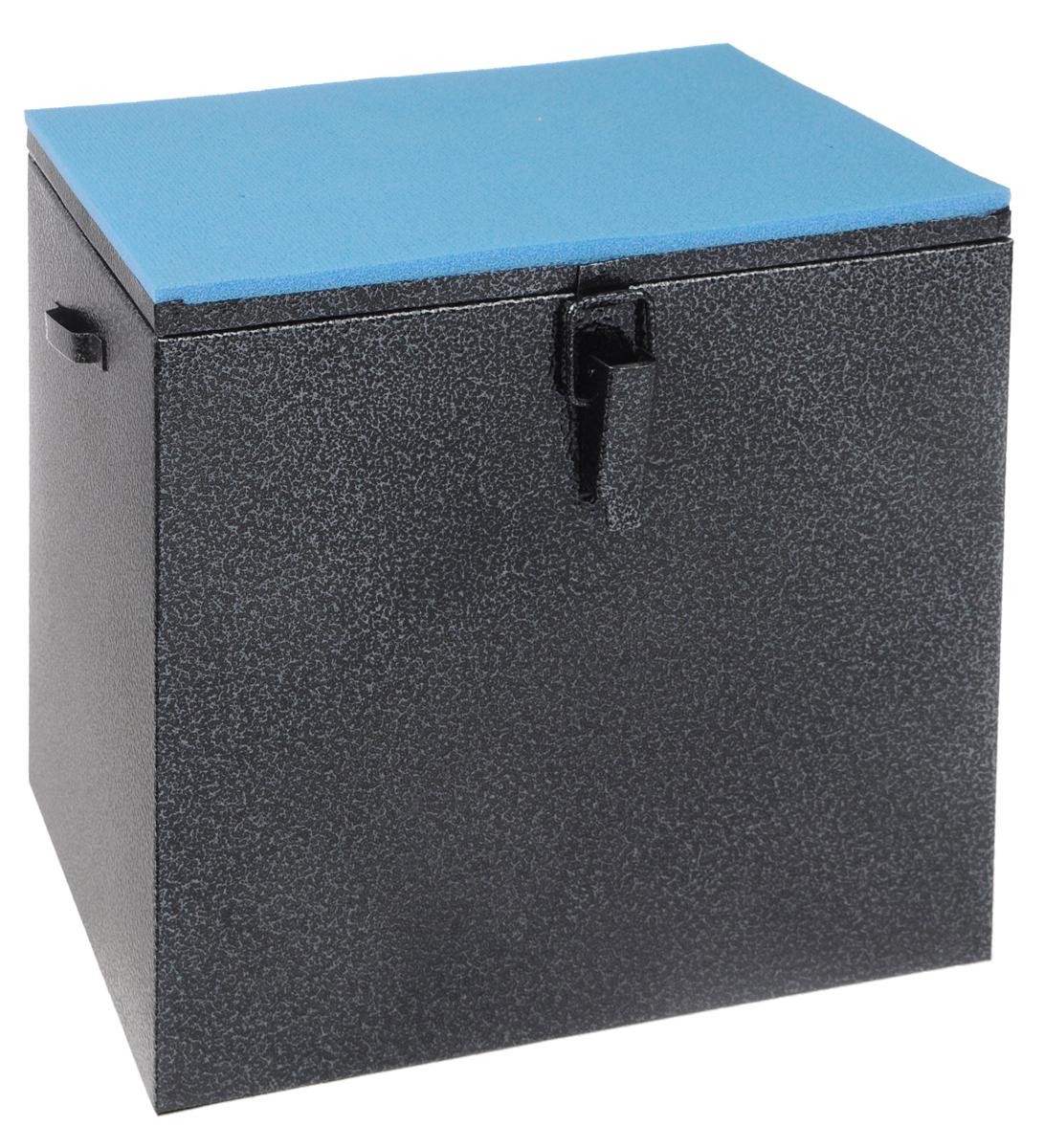 Ящик рыболова Рост, окрашенный, 30 см х 19 см х 29 см26720Прочный и надежный ящик Рост, выполненный из высококачественной окрашенной стали, сможет не один год прослужить любителю зимней рыбалки для транспортировки снастей и улова. Служащая сиденьем верхняя часть крышки оклеена плотным теплоизолятором - пенополиэтиленом с рифленой поверхностью. Внутренний объем ящика разделен перегородкой, придающей конструкции дополнительную жесткость. Боковые стенки емкости снабжены петлями для крепления идущего в комплекте плечевого ремня.