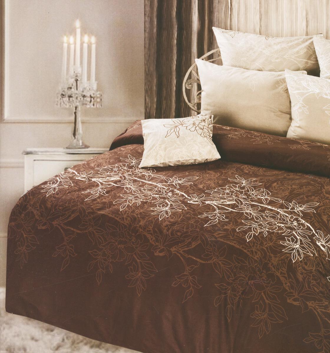 Комплект белья Romantic Сиена, 1,5-спальный, наволочки 70х70, цвет: бежевый, коричневый264460Роскошный комплект постельного белья Romantic Сиена выполнен из натуральной ткани 100% хлопка высшего качества. Комплект состоит из пододеяльника, простыни и двух наволочек. Lux Cotton - это уникальная ткань, произведенная из длинноволокнистого мягкого хлопка. Постельное белье Romantic подчеркнет ваш индивидуальный стиль и создаст неповторимую и романтическую атмосферу в вашей спальне.