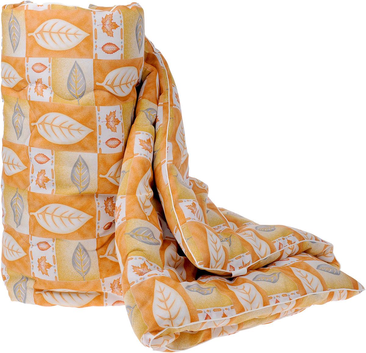 Одеяло Руно, наполнитель: овечья шерсть, вискоза, цвет: оранжевый, светло-коричневый, белый, 172 х 205 см126319101_оранж.листОдеяло Руно с наполнителем из 95% овечьей шерсти и 5% вискозы окутает вас своим теплом и нежностью. Лечебные свойства натуральной шерсти, которая стимулирует кровообращение и облегчает мышечные боли, а так же ее высокая терморегуляция, обеспечат здоровый и комфортный сон, создавая оптимальный микроклимат в постели. Чехол одеяла выполнен из ткани нового поколения биософт (полиэстер), которая отличается нежной шелковистой фактурой и высокой прочностью, надежно удерживает наполнитель внутри изделия. При правильном уходе одеяло Руно надолго сохранит свои свойства и привлекательный внешний вид.