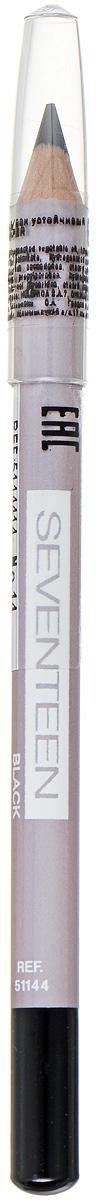 SEVENTEEN Карандаш для век устойчивый т.14 LONGSTAY EYE SHAPERчёрный, 1,14 гр5114414Мягкий карандаш Seventeen Longstay Eye Sheper длительного действия, с входящим в состав кукурузным маслом, идеально подчеркивает контур нижних и верхних ресниц. Специальный состав позволяет легко чертить линию, не царапая, не растягивая и не раздражая чувствительную кожу вокруг глаз. Корпус карандаша - деревянный. Подходит для внутреннего века. Офталмологически тестирован. Рекомендуется женщинам, носящим контактные линзы. Товар сертифицирован.