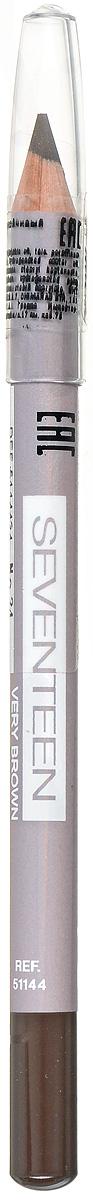 SEVENTEEN Карандаш для век устойчивый т.34 LONGSTAY EYE SHAPERтёмно-коричневый, 1,14 гр5114434Мягкий карандаш Seventeen Longstay Eye Sheper длительного действия, с входящим в состав кукурузным маслом, идеально подчеркивает контур нижних и верхних ресниц. Специальный состав позволяет легко чертить линию, не царапая, не растягивая и не раздражая чувствительную кожу вокруг глаз. Корпус карандаша - деревянный. Подходит для внутреннего века. Офталмологически тестирован. Рекомендуется женщинам, носящим контактные линзы. Товар сертифицирован.