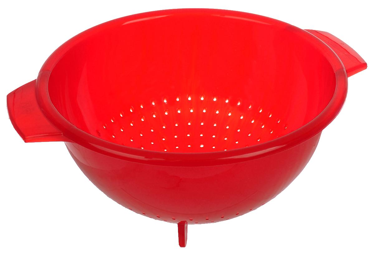 Дуршлаг Cosmoplast, цвет: красный, диаметр 24 см2138_красныйДуршлаг Cosmoplast, изготовленный из высококачественного пластика, станет полезным приобретением для вашей кухни. Дуршлаг имеет ножки, которые позволяют ставить его, а не держать в руках при использовании. Он идеально подходит для процеживания, ополаскивания и стекания макарон, овощей, фруктов. Диаметр: 24 см. Высота стенки: 12 см.