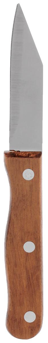 Нож для чистки овощей Miolla Дерево, длина лезвия 7,5 см1508005UНож Miolla изготовлен из высококачественной стали. Очень удобная и эргономичная рукоятка, изготовленная из дерева, не позволит скользить ножу в руках и обеспечит безопасность при нарезке продуктов. Нож предназначен для очистки овощей и фруктов. Можно мыть в посудомоечной машине. Длина ножа: 18 см.
