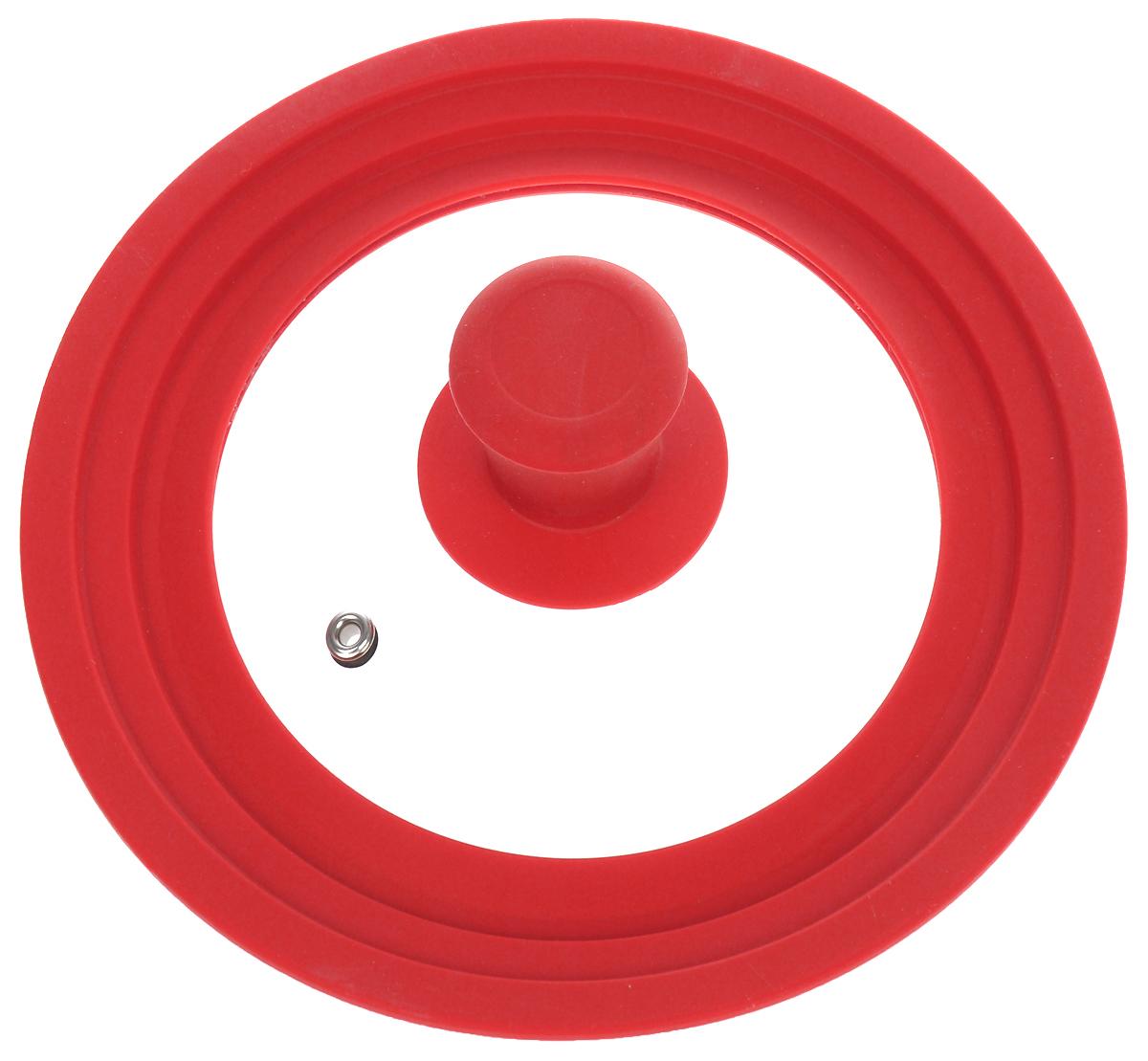 """Крышка универсальная """"Miolla"""", цвет: красный, для сковород и кастрюль диаметром 16, 18, 20 см"""