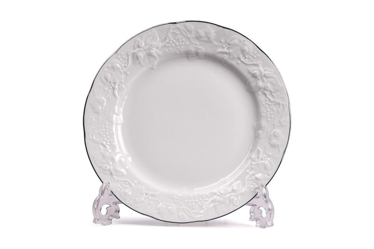Тарелка десертная, 16 см, цвет: белый с платиной6 901 160 019Тарелка десертная 16 см Материал: фарфор: цвет: белый с платиной Серия: VENDANGE