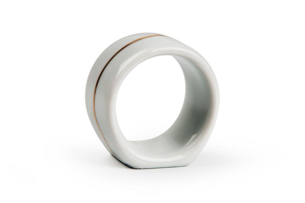 Кольцо для салфеток, цвет: белый с золотом482 351 009Кольцо для салфеток Материал: фарфор: цвет: белый с золотом Серия: VENDANGE