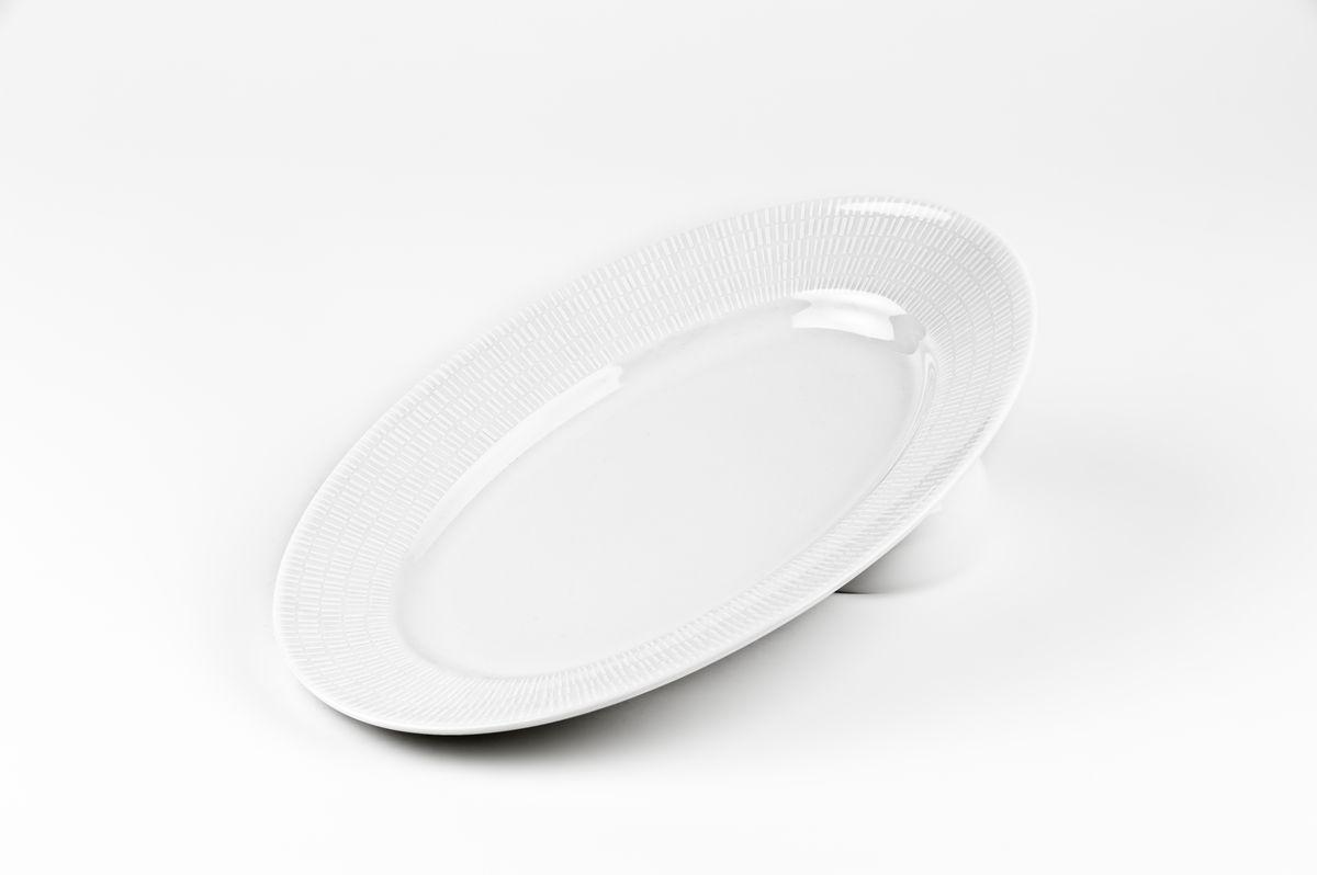 Zen Asymetrie Blanc 2161, Блюдо овальное, цвет: белый531235 2161Блюдо овальное 35 см Материал: фарфор: цвет: белый Серия: ZEN