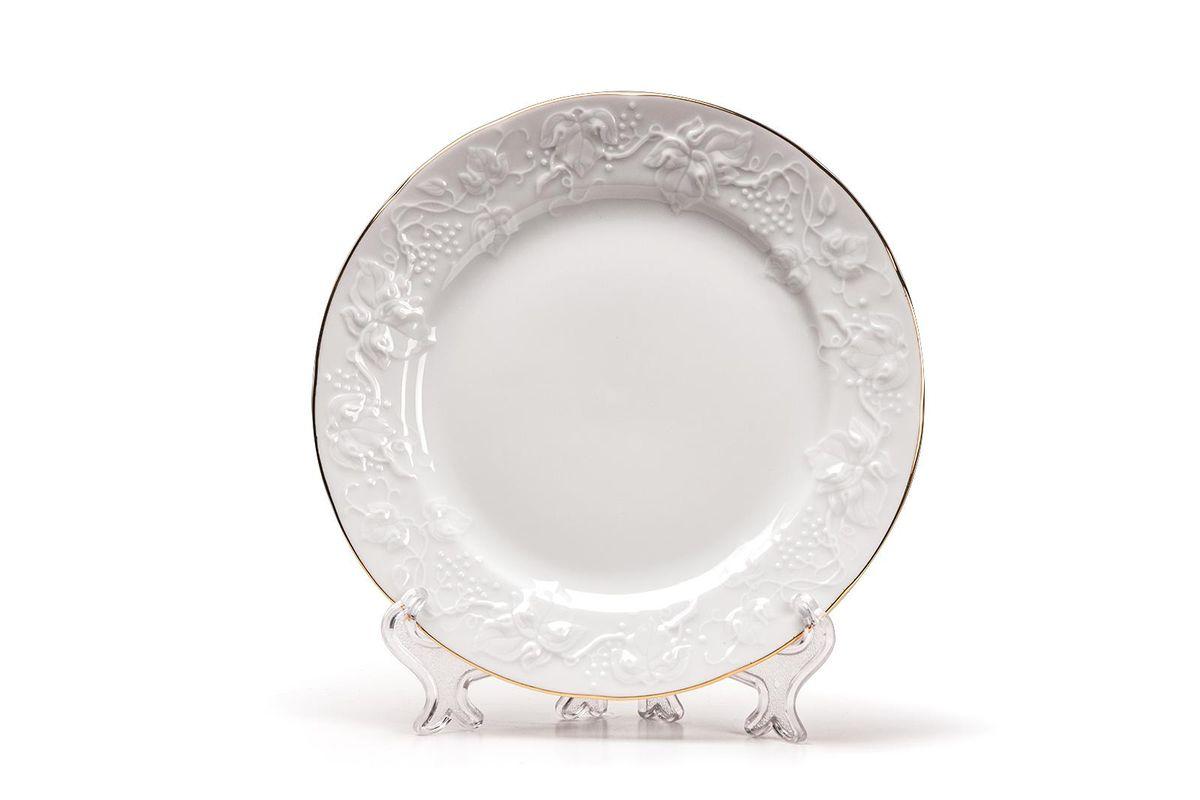Тарелка десертная, 16 см, цвет: белый с золотом6 901 161 009Тарелка десертная 16 см