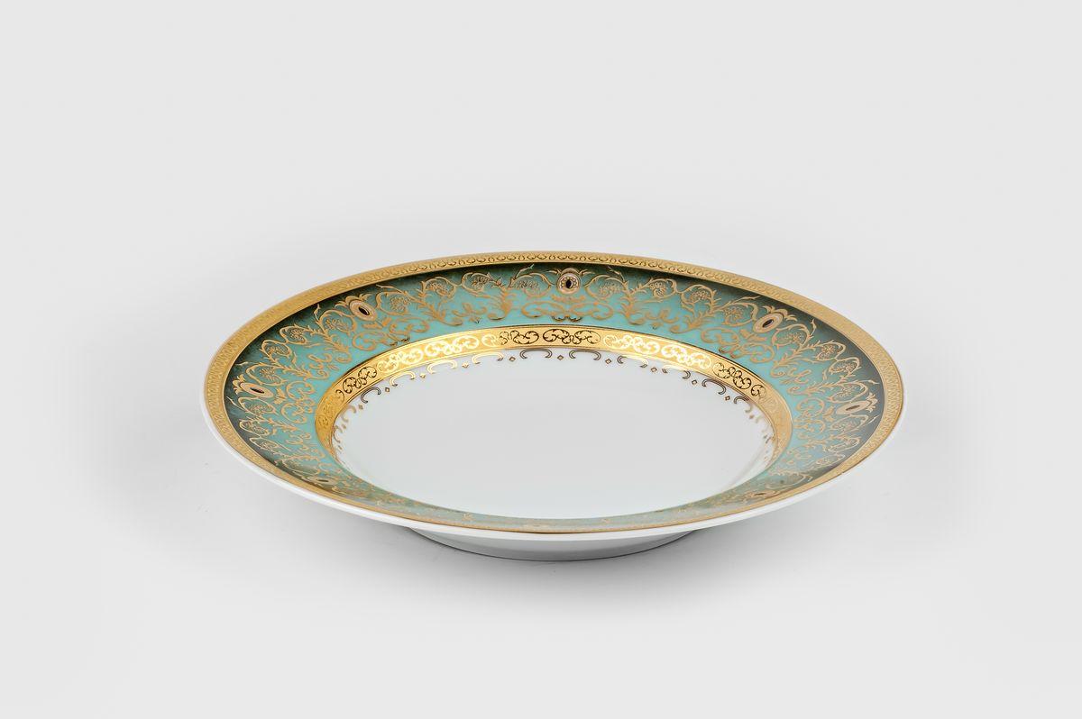 Mimosa Prague Degrade 1643, набор глубоких тарелок (6шт), цвет: бело-зеленый с золотом5 391 241 643В наборе глубокая тарелка 6 штук
