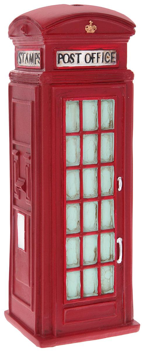 Копилка декоративная Miolla АнглияC259020Декоративная копилка Miolla Англия изготовлена из полирезина в виде телефонной будки. Сверху имеется прорезь для монет. На дне расположен клапан, через который можно достать деньги. Яркий оригинальный дизайн сделает такую копилку прекрасным подарком. Она послужит не только по своему прямому назначению, но и красиво дополнит интерьер комнаты.