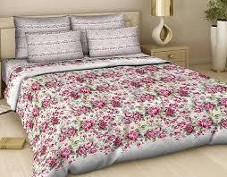 Комплект белья Василиса Розовый сон, 1,5-спальный, наволочки 70х70, цвет: белый, розовый, зеленый. 326_1/1,5