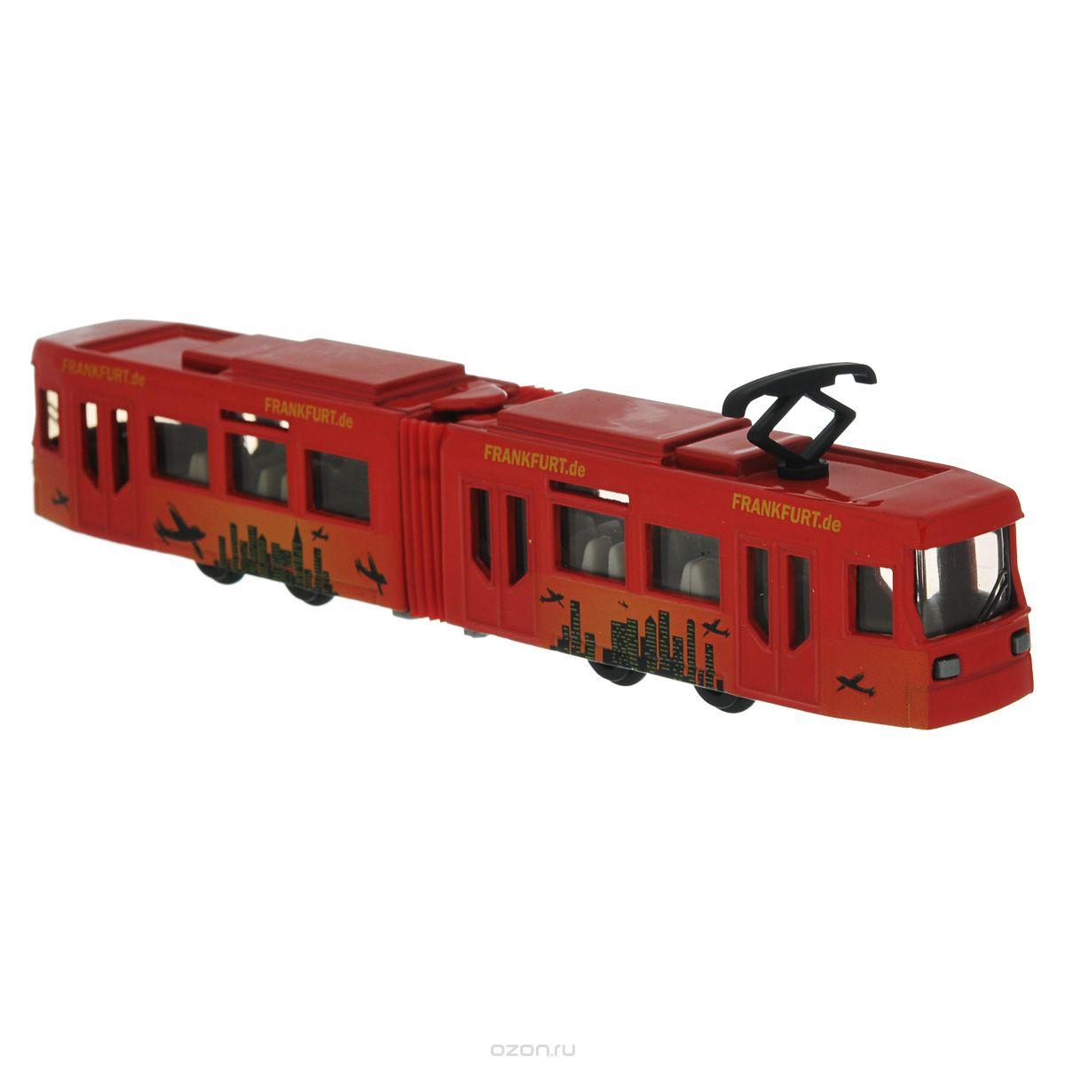 Siku Трамвай цвет красный1615Трамвай Siku выполнен из металла с элементами из пластика; его колесики крутятся. Такая модель понравится не только ребенку, но и взрослому коллекционеру, и приятно удивит вас высочайшим качеством исполнения. Трамвай станет не только интересной игрушкой для ребенка, интересующегося городской техникой, но и займет достойное место в коллекции.