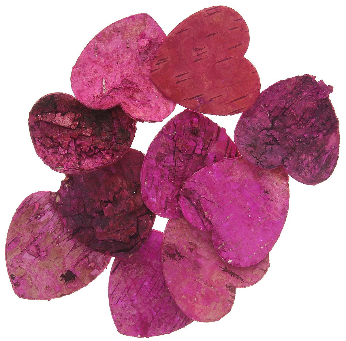 Декоративный элемент Dongjiang Art Сердце, цвет: фуксия, 10 шт7709004_розовыйДекоративный элемент Dongjiang Art Сердце, изготовленный из натуральной коры дерева, предназначен для украшения цветочных композиций. Изделие можно также использовать в технике скрапбукинг и многом другом. Флористика - вид декоративно-прикладного искусства, который использует живые, засушенные или консервированные природные материалы для создания флористических работ. Это целый мир, в котором есть место и строгому математическому расчету, и вдохновению. Размер одного элемента: 5 см х 5 см.
