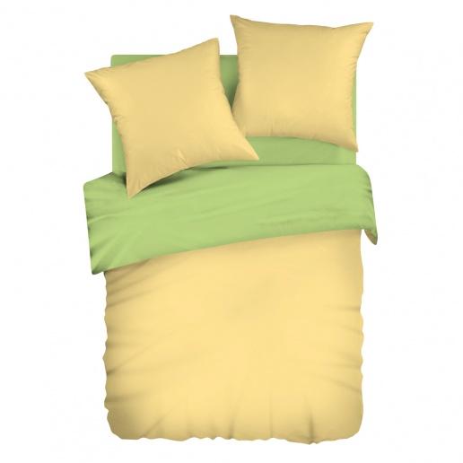 Комплект белья Wenge Uno, 1,5-спальный, наволочки 70х70, цвет: желтый, салатовый. 292560292560Стильный комплект постельного белья Wenge Uno выполнен из ткани Биокомфорт, произведенной из натурального 100% хлопка. Ткань приятная на ощупь, при этом она прочная, хорошо сохраняет форму и легко гладится. Ткань прекрасно пропускает воздух и за ней легко ухаживать. Комплект состоит из пододеяльника, простыни и двух наволочек. Двусторонний пододеяльник со своим цветом с каждой стороны позволит легко обновить интерьер спальни, просто перевернув одеяло. Благодаря такому комплекту постельного белья вы создадите неповторимую атмосферу в вашей спальне.