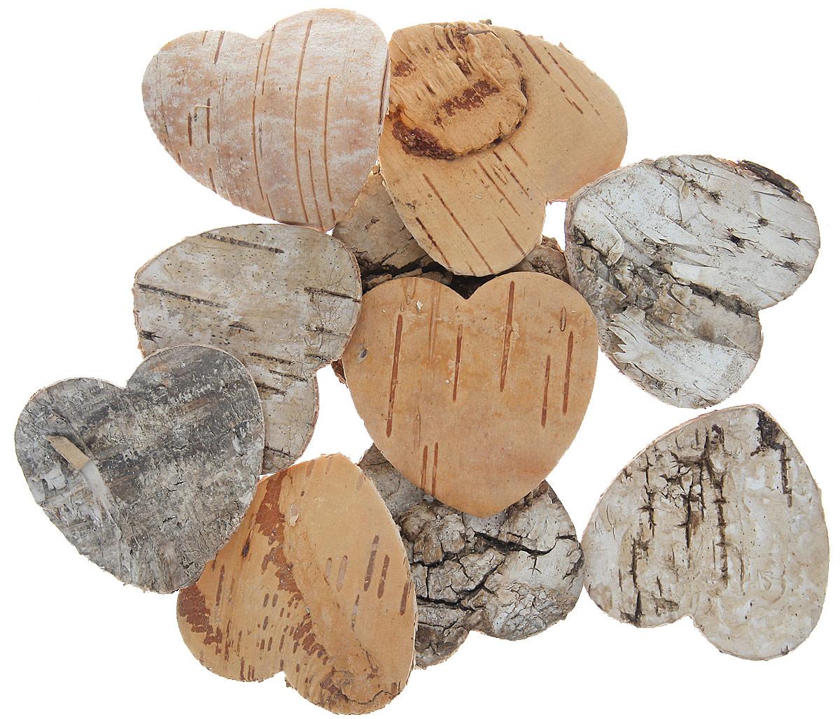 Декоративный элемент Dongjiang Art Сердце, цвет: светло-коричневый, 10 шт7709004_отбеленныйДекоративный элемент Dongjiang Art Сердце, изготовленный из натуральной коры дерева, предназначен для украшения цветочных композиций. Изделие можно также использовать в технике скрапбукинг и многом другом. Флористика - вид декоративно-прикладного искусства, который использует живые, засушенные или консервированные природные материалы для создания флористических работ. Это целый мир, в котором есть место и строгому математическому расчету, и вдохновению. Размер одного элемента: 5 см х 5 см.