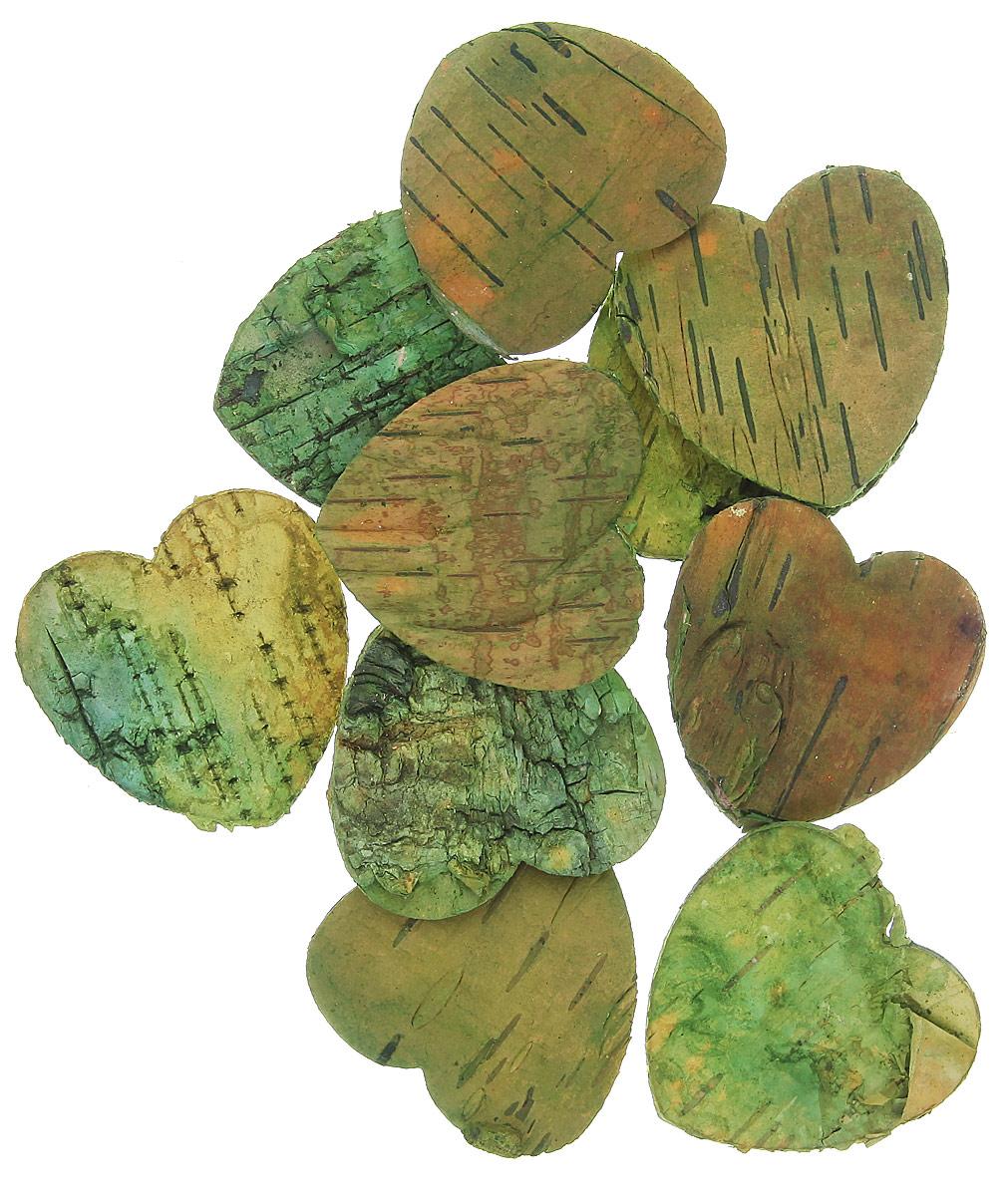 Декоративный элемент Dongjiang Art Сердце, цвет: зеленый, 10 шт7709004_зеленыйДекоративный элемент Dongjiang Art Сердце, изготовленный из натуральной коры дерева, предназначен для украшения цветочных композиций. Изделие можно также использовать в технике скрапбукинг и многом другом. Флористика - вид декоративно-прикладного искусства, который использует живые, засушенные или консервированные природные материалы для создания флористических работ. Это целый мир, в котором есть место и строгому математическому расчету, и вдохновению. Размер одного элемента: 5 см х 5 см.