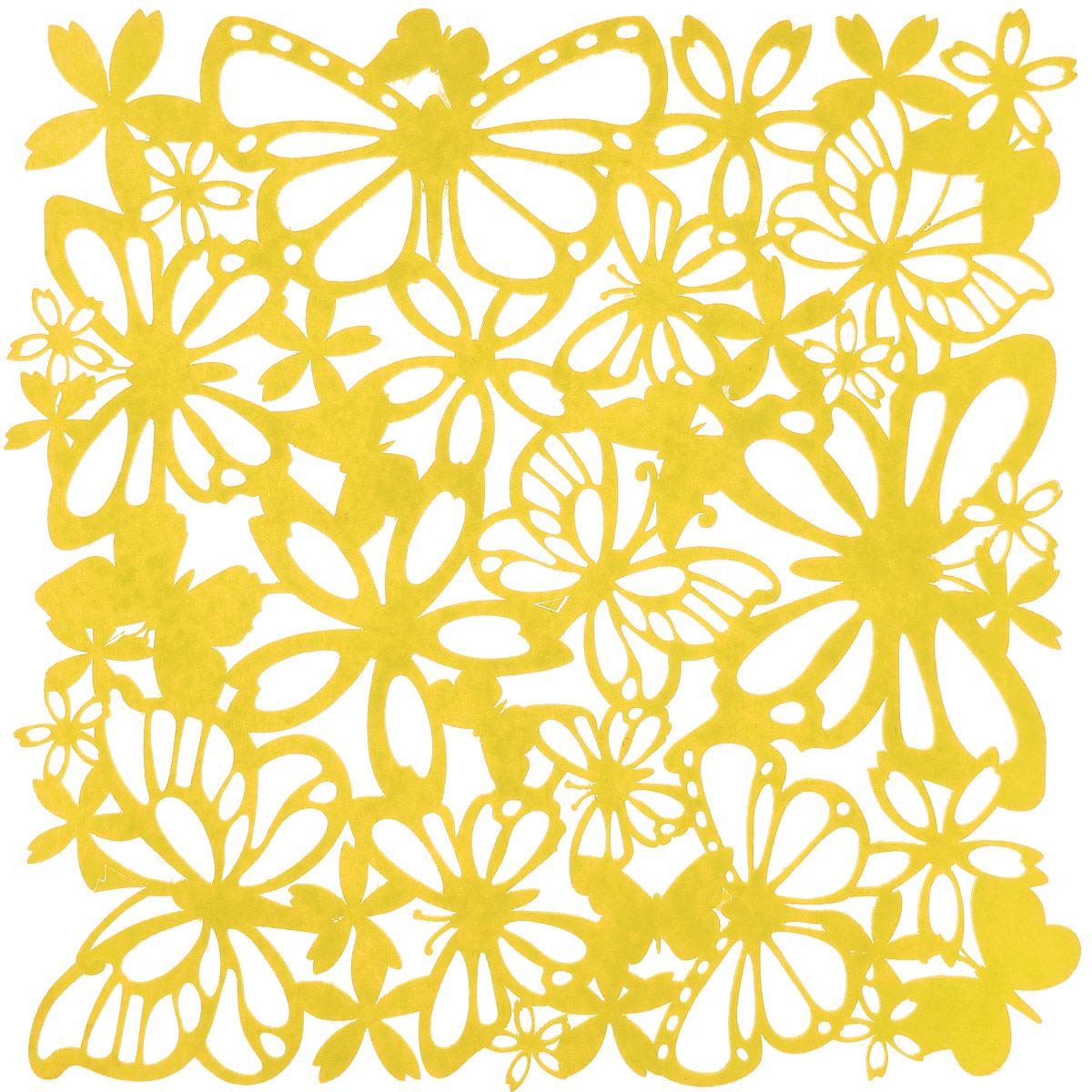 Салфетка Home Queen Взмах крыльев, цвет: желтый, 30 см х 30 см66841_желтыйКвадратная салфетка Home Queen Взмах крыльев изготовлена из фетра и оформлена изысканной перфорацией в виде цветочных узоров и бабочек. Такая салфетка прекрасно подойдет для украшения интерьера кухни, она сбережет стол от высоких температур и грязи.