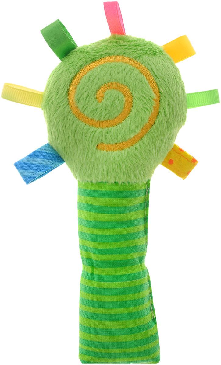 Мякиши Мягкая игрушка-погремушка ШуМякиши Маракас цвет зеленый279_зеленыйМягкая игрушка-погремушка Мякиши ШуМякиши: Маракас - первая мягкая игрушка для малыша. Этот шумякиш выполнен в виде маракаса из разнофактурных материалов, что помогает развить тактильные и хватательные навыки, а хрустящие элементы внутри - слуховые рецепторы.