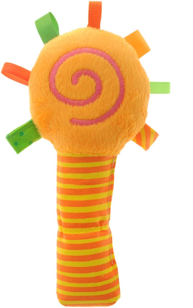 Мякиши Мягкая игрушка-погремушка ШуМякиши Маракас цвет оранжевый