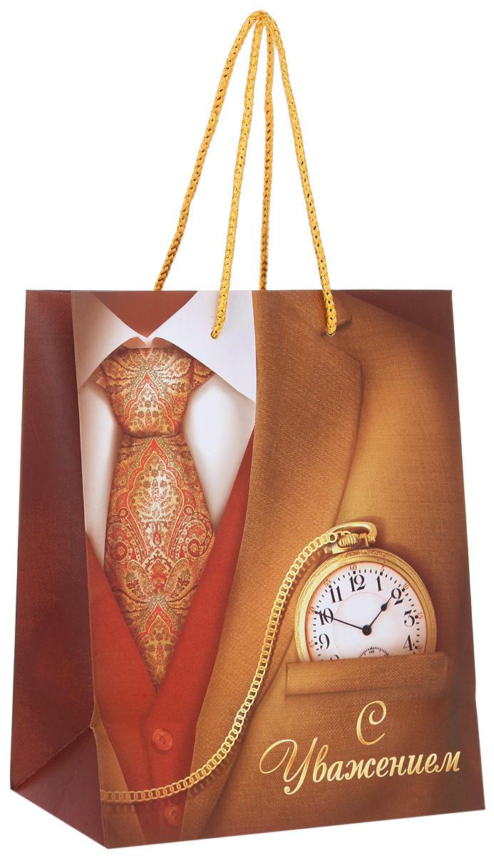 "Пакет подарочный Sima-land ""Джентльмен"", 23 х 18 х 10 см"